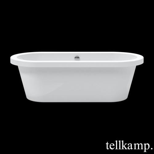 Tellkamp Elegance freistehende Oval Badewanne weiß glanz