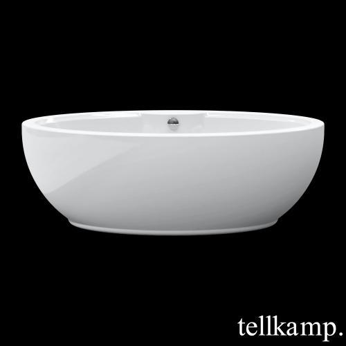 Tellkamp Orbital freistehende Oval Badewanne weiß glanz