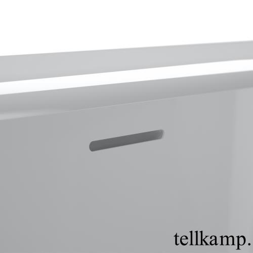 Tellkamp Solitär Fix Oval Badewanne weiß glanz