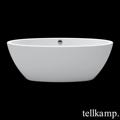 Tellkamp Space freistehende Oval Whirlwanne weiß matt, Schürze weiß matt
