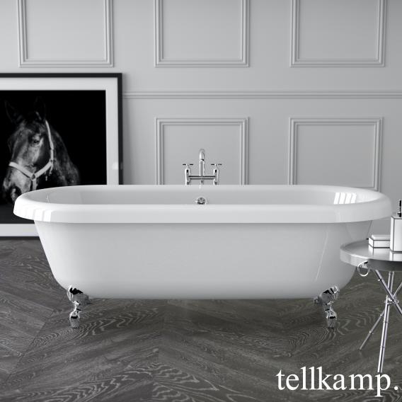 Tellkamp Antiqua Plus freistehende Oval Badewanne weiß glanz, Schürze weiß glanz
