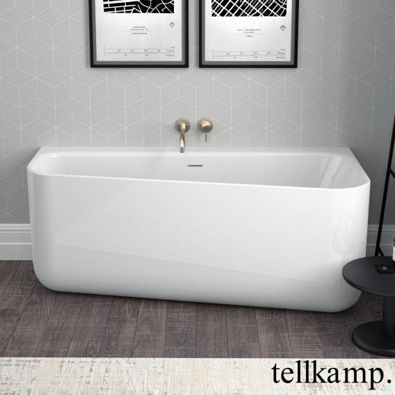 Tellkamp Koeko L Raumspar-Badewanne, Ausführung links weiß glanz, ohne Füllfunktion