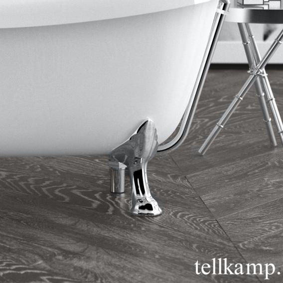 Tellkamp Nostalgia freistehende Oval Badewanne weiß glanz, Schürze weiß glanz