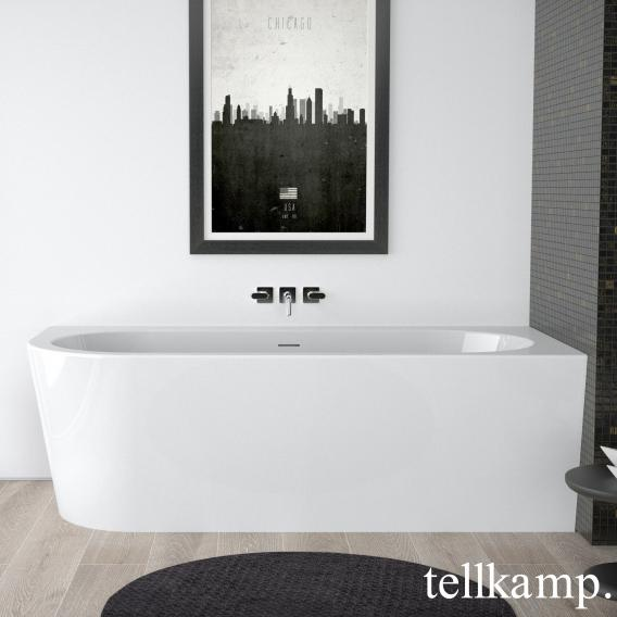 Tellkamp Pio Eck-Badewanne weiß glanz, Schürze weiß glanz, ohne Füllfunktion