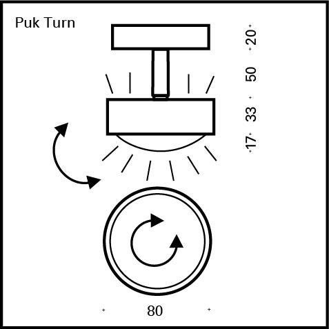 Top Light Puk Turn Up-/Downlight Deckenleuchte ohne Zubehör