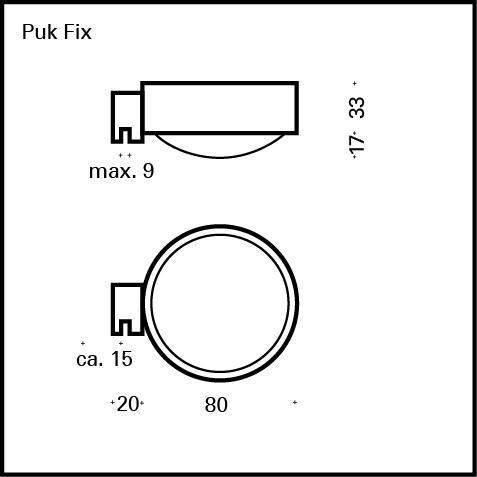 Top Light Puk Fix Spiegel-Schraubklemmleuchte ohne Zubehör
