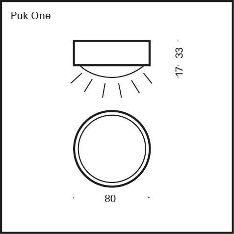 Top Light Puk One Deckenleuchte ohne Zubehör