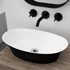 Treos Serie 730 Aufsatzwaschtisch schwarz/weiß