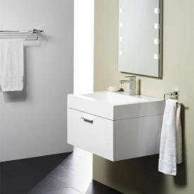 Treos Serie 900 Waschtisch mit Waschtischunterschrank mit 1 Auszug Front weiß / Korpus weiß, mit 1 Hahnloch