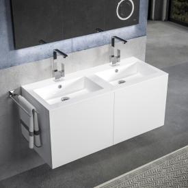 Treos Serie 915 Doppelwaschtisch mit Waschtischunterschrank mit 4 Auszügen