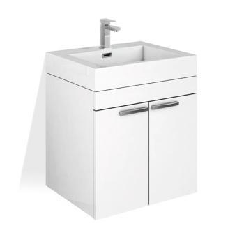 Treos Serie 900 Waschtischunterschrank mit Waschtisch weiß