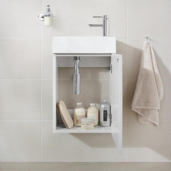 Treos Serie 900 Handwaschbecken mit Waschtischunterschrank mit 1 Tür Front weiß / Korpus weiß