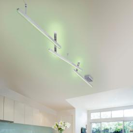 TRIO Melby RGBW LED Deckenleuchte mit Dimmer