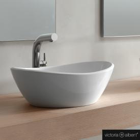 Victoria + Albert Amalfi 55 Aufsatzwaschtisch weiß glanz/innen weiß glanz