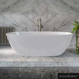 Victoria + Albert Barcelona 2 Freistehende Oval Badewanne weiß glanz/innen weiß glanz