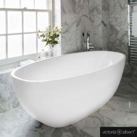 Victoria + Albert Barcelona 3 Freistehende Oval-Badewanne weiß glanz/innen weiß glanz
