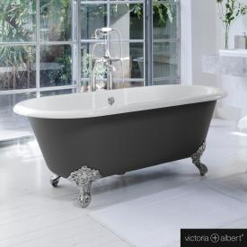 Victoria + Albert Cheshire Freistehende Oval Badewanne anthrazit/weiß, mit verchromten Metall Füßen