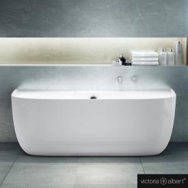 Victoria + Albert Eldon Sonderform-Badewanne weiß, mit Überlauf