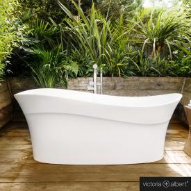 Victoria + Albert Pescadero Freistehende Oval Badewanne weiß glanz/innen weiß glanz