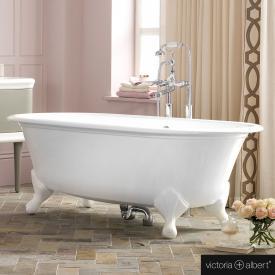 Victoria + Albert Radford Freistehende Oval-Badewanne weiß glanz/innen weiß glanz, mit weißen QUARRYCAST®  Füßen