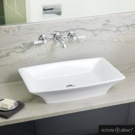 Victoria + Albert Ravello 60 Aufsatzwaschtisch weiß glanz/innen weiß glanz