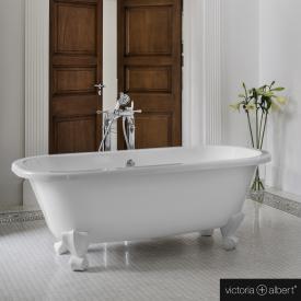 Victoria + Albert Richmond Freistehende Oval Badewanne weiß glanz/innen weiß glanz