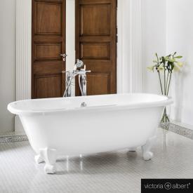 Victoria + Albert Richmond Freistehende Oval-Badewanne weiß glanz/innen weiß glanz