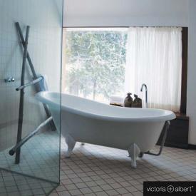 Victoria + Albert Roxburgh Freistehende Oval Badewanne weiß, mit weißen QUARRYCAST®  Füßen
