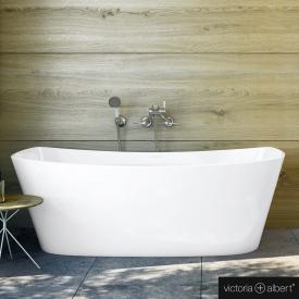 Victoria + Albert Trivento Freistehende Rechteck-Badewanne weiß glanz/innen weiß glanz