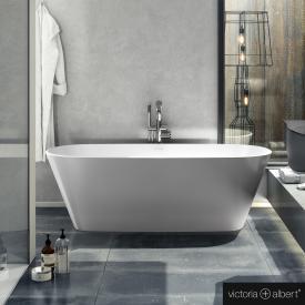 Victoria + Albert Vetralla 2 Freistehende Oval Badewanne weiß glanz/innen weiß glanz