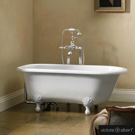 Victoria + Albert Wessex Freistehende Oval Badewanne weiß glanz/innen weiß glanz, mit weißen Metall Füßen