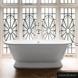Victoria + Albert York Freistehende Oval Badewanne weiß glanz/innen weiß glanz