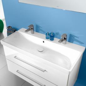 Villeroy & Boch Avento Doppel-Möbelwaschtisch weiß, mit Überlauf