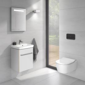 Villeroy & Boch Avento Handwaschbecken mit Waschtischunterschrank und More to See One Spiegel