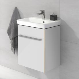Villeroy & Boch Avento Handwaschbecken mit Waschtischunterschrank mit 1 Tür Front crystal white / Korpus crystal white, WT weiß mit Ceramicplus