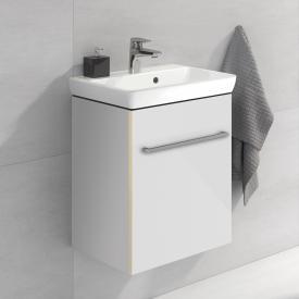 Villeroy & Boch Avento Waschtischunterschrank mit 1 Tür Front crystal white / Korpus crystal white