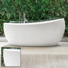 Villeroy & Boch Aveo New Generation Freistehende Oval-Badewanne stone white, mit Ab- und Überlauf