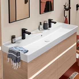 Villeroy & Boch Collaro Doppel-Möbelwaschtisch weiß, mit Überlauf