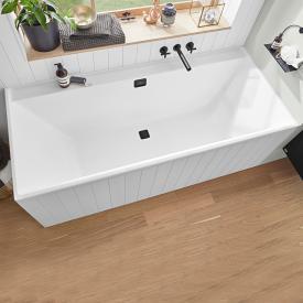 Villeroy & Boch Collaro Rechteck-Badewanne weiß, Ab-/Überlaufgarnitur black matt