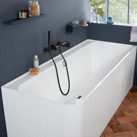 Villeroy & Boch Collaro Rechteck-Badewanne weiß/weiß, Ab-/Überlaufgarnitur chrom