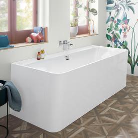 Villeroy & Boch Collaro Vorwand-Badewanne weiß/weiß, Ab-/Überlaufgarnitur chrom