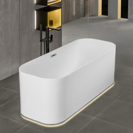 Villeroy & Boch Finion freistehende Badewanne mit Emotion-Funktion weiß, chrom, mit Design-Ring