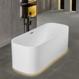 Villeroy & Boch Finion Freistehende Oval-Badewanne mit Emotion-Funktion starwhite, chrom