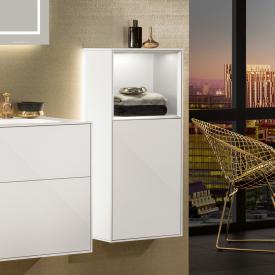 Villeroy & Boch Finion LED-Seitenschrank mit 1 Tür, Regalelement oben Front glossy white / Korpus glossy white