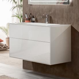 Villeroy & Boch Finion LED-Waschtischunterschrank mit 2 Auszügen Front glossy white / Korpus glossy white