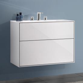 Villeroy & Boch Finion Waschtischunterschrank mit 2 Auszügen Front glossy white / Korpus glossy white