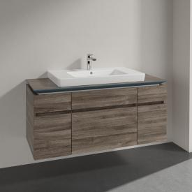 Villeroy & Boch Legato Waschtischunterschrank mit 5 Auszügen Front stone oak / Korpus stone oak