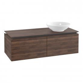 Villeroy & Boch Legato Waschtischunterschrank für Aufsatzwaschtisch mit 2 Auszügen Front arizona oak / Korpus arizona oak