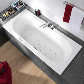 Villeroy & Boch Loop & Friends OVAL Duo Rechteck-Whirlwanne, Technikposition 1 weiß mit AirPool Entry