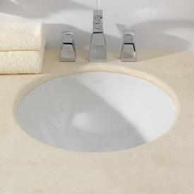 Villeroy & Boch Loop & Friends Unterbauwaschtisch, rund weiß, mit Überlauf